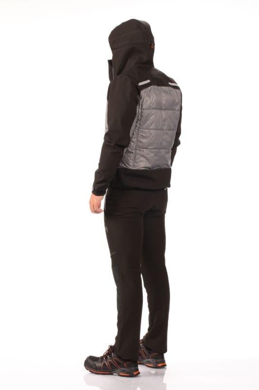 """alt=""""Рабочая утепленная куртка HYBRID JACKET GREY/BLACK"""""""