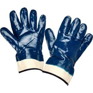 Нитриловые перчатки с крагой