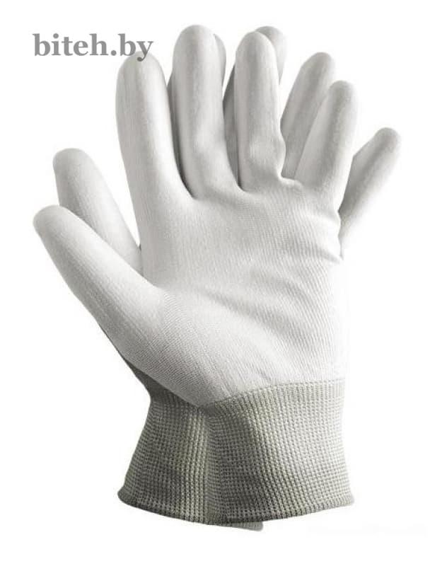 Нейлоновые перчатки с полиуретановым покрытием арт. 1001 white