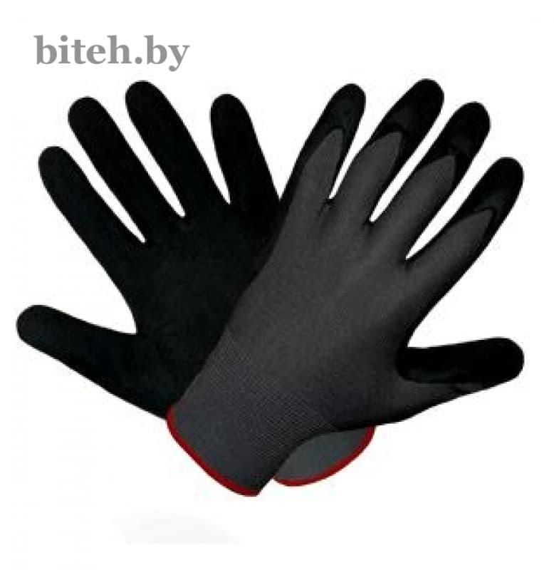 Нейлоновые перчатки покрытые вспененным латексом арт. 481