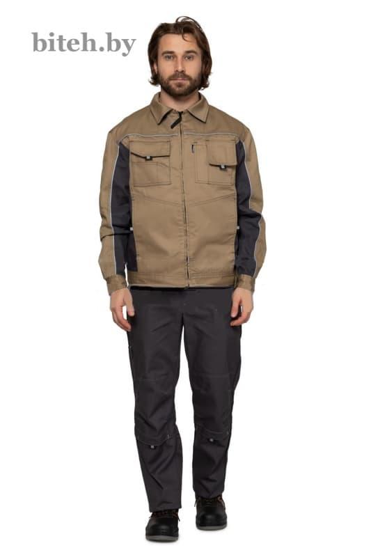 Куртка «Люкс» бежевый-серый