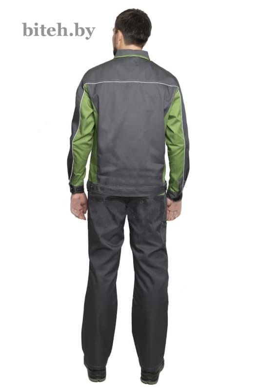 Костюм рабочий «Бренд 2» серый/зелёный