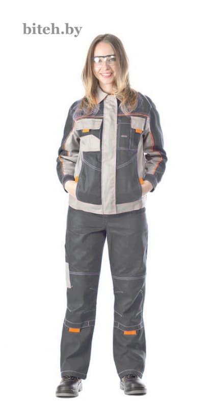 Костюм рабочий женский «Бренд-1» серый