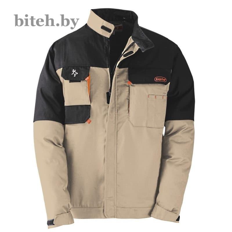Рабочая куртка KAVIR (бежевый/чёрный)