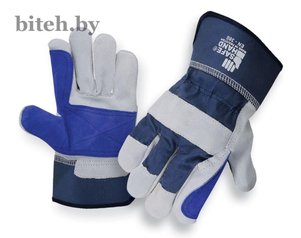 Перчатки спилковые комбинированные усиленные арт. SHRGP