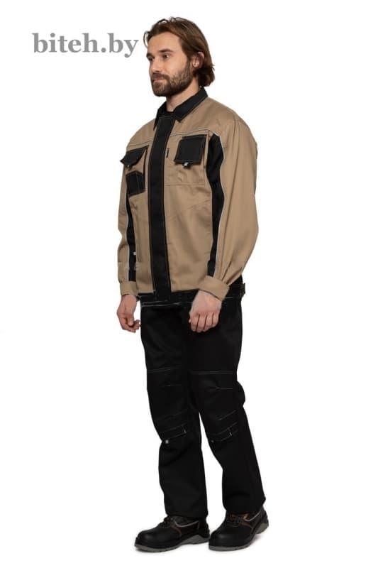 Куртка мужская «Бренд» бежевый-черный