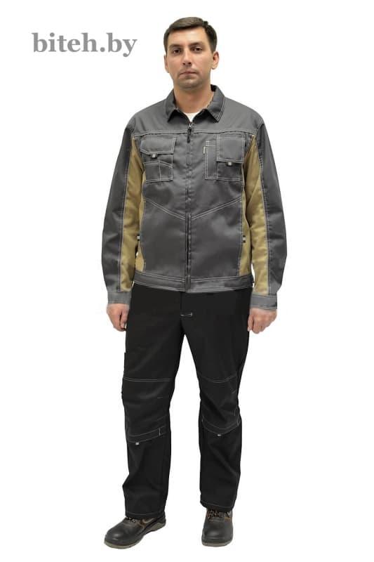 Куртка «Люкс» серый-бежевый