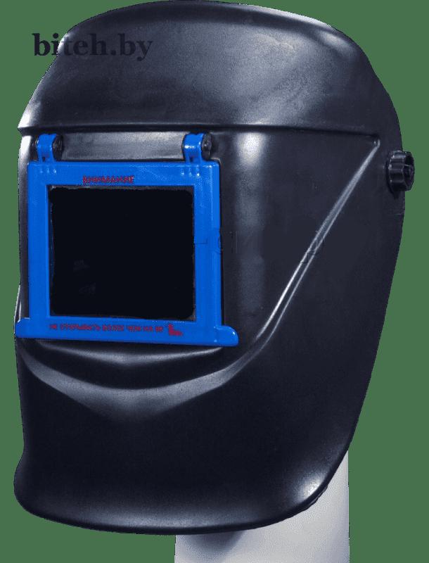 Щиток защитный сварщика с откидным блоком светофильтра С-4 (оголовье - храповик)