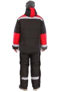 Костюм утепленный «Эверест» черный/красный