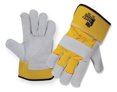 Перчатки спилковые комбинированные арт. SHYG