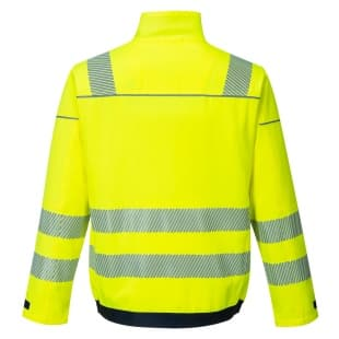 Рабочая куртка PW3 Hi-Vis Work арт. T500 (Желт/Темно-синий)
