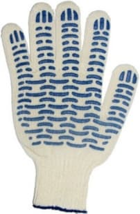 Перчатки трикотажные с ПВХ ''Волна'' (7 класс, 70г, 6-ти нитка, 22р-р)